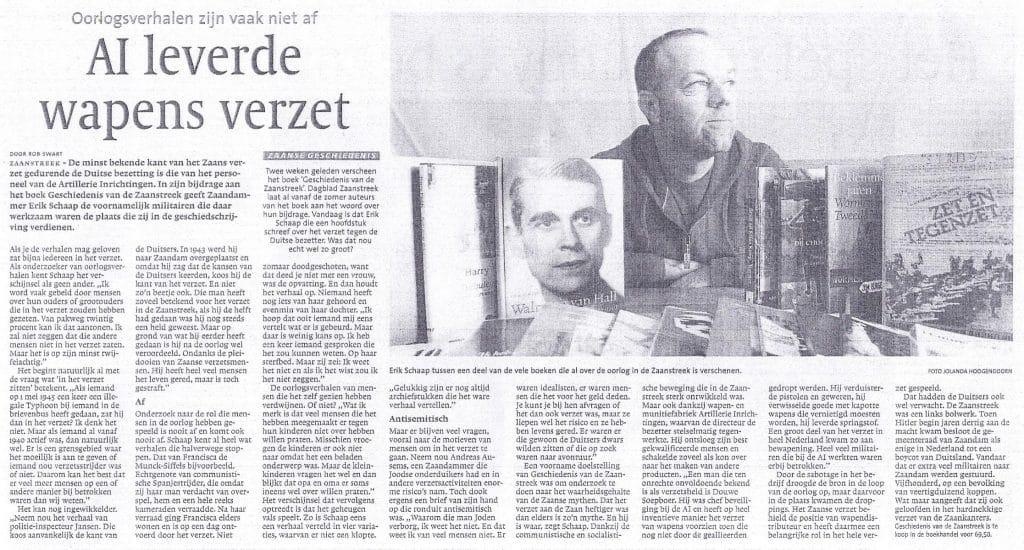 Vraaggesprek met Erik Schaap over Geschiedenis van de Zaanstreek